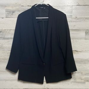 a.n.a Black 3/4 Sleeve Lined Blazer -Size XL